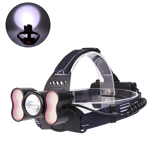 아재몰_(1416337)_자전거 LED 헤드라이트 조명_XANES 2709 2500LM T6+2* SMD Light Headlamp 18650 Battery USB Interface 4 Modes Waterproof Camping Bike Bicycle Cycling Hiking Fishing Light