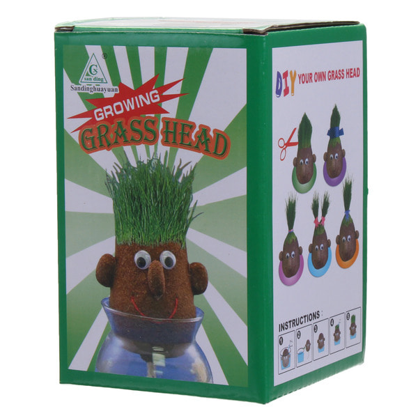 아재몰 퍼즐 게임 교육용 장난감 Mini Magic Growing Grass Head Education Toys Random 4PCS Dolls Children Kids Craft DIY Gifts