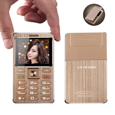 아재몰 해외직배송 피처폰_SATREND A10 1.77 Inch 480mAh Bluetooth GSM Metal Fuselage Ultra Thin Mini Card Phone