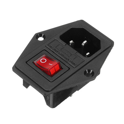 아재몰 해외직배송 아케이드 게임 악세사리_ON/OFF IO Switch Socket with Female Plug for Power Supply Cord Jamma Arcade Machine with Fuse