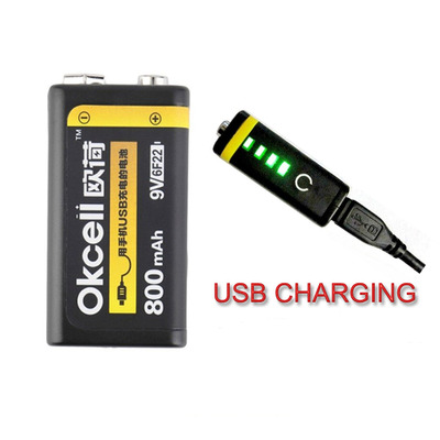 아재몰 해외직배송 RC Battery&Charger_OKcell 9V 800mAh USB Rechargeable Lipo Battery for RC Helicopter Model Microphone