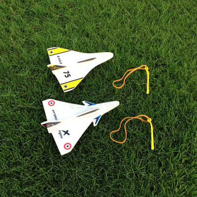 아재몰 RC비행기_Elastic Rubber Band Powered DIY Delta Wing Foam Plane Kit Aircraft Model Outdoor Toys