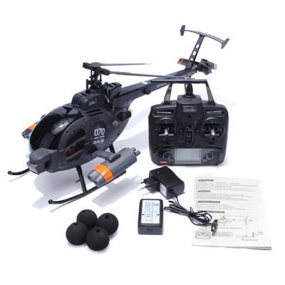 아재몰 해외직배송 RC 헬리콥터_FX070C 2.4G 4CH 6-Axis Gyro Flybarless MD500 Scale RC Helicopter