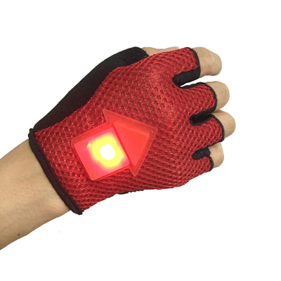아재몰_(1171739)_자전거 LED 장갑_BIKIGHT Gravity Sensor Turn Signal Bike Gloves LED Light Automatic Induction Warning for Cycling Running