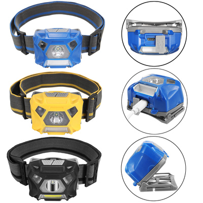 아재몰_(1347636)_자전거 안전등 조명_BIKIGHT Cycling Bike Headlamp USB Rechargeable Sensor High Bright Bicycle Running Fishing 헤드라이트