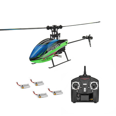아재몰_RC 헬리콥터 헬기 RTF 풀세트_WLtoys V911S 2.4G 4CH 6-Aixs Gyro Flybarless RC Helicopter RTF With 4PCS 3.7V 250MAh Lipo Battery