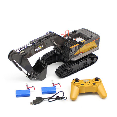아재몰 (1676759) RC카 레이싱카 스포츠카_HuiNa 1592 with 2/3 Batteries 1/14 2.4G 22CH RC Excavator Engineering Vehicle Model Alloy Construction Truck
