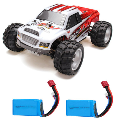 아재몰 (1675128) Wltoys RC카 레이싱카 스포츠카_WLtoys A979B with Two Batteries 1/18 2.4G 4WD Monster Truck RC Car 70km/h RTR Model