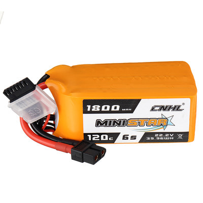 아재몰 RC드론 배터리 CNHL MINISTAR 22.2V 1800mAh 120C 6S Lipo Battery XT60 Plug for RC Racing Drone