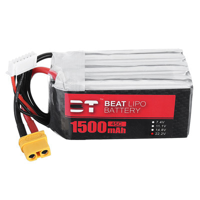 아재몰 RC드론 배터리 BT BEAT 22.2V 1500mAh 45C 6S Lipo Battery XT60 Plug for RC Racing Drone