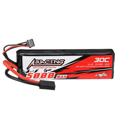 아재몰 RC카 배터리 CNHL RACING SERIES 11.1V 5000mAh 30C 3S Lipo Battery With TRX Plug for TRAXXAS RC Car