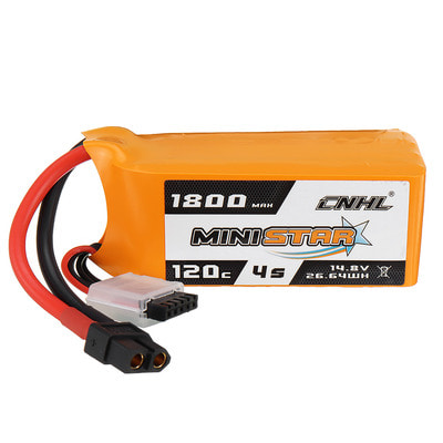 아재몰 RC드론 배터리 CNHL MINISTAR 14.8V 1800mAh 120C 4S Lipo Battery XT60 Plug for RC Racing Drone