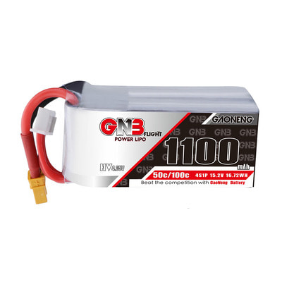 아재몰 RC드론 배터리 Gaoneng GNB 15.2V 1100mAh 50C 4S HV Lipo Battery With XT60/XT30 Plug for RC Racing Drone