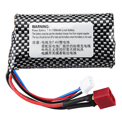 아재몰 RC 배터리 HT 7.4V 1300mAh 2S 15C Li-ion Battery T Plug for C602 C604 C605 1/16 RC Car Vehicles Model
